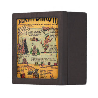 North Dakota Comic Book Keepsake Box