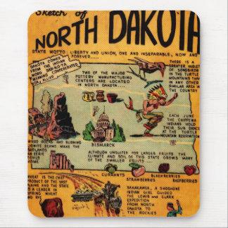 North Dakota Comic Book Mouse Pad