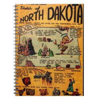 North Dakota Comic Book Spiral Notebook