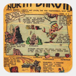 North Dakota Comic Book Square Sticker