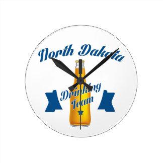 North Dakota Drinking team Round Clock