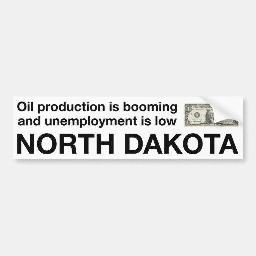 North Dakota Economic Prosperity Car Bumper Sticker