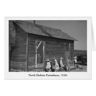 North Dakota Farmhouse, 1930s Card