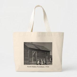 North Dakota Farmhouse, 1930s Large Tote Bag