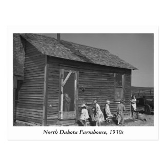 North Dakota Farmhouse, 1930s Postcard