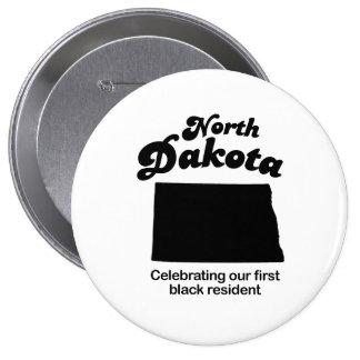 North Dakota - first black resident Buttons