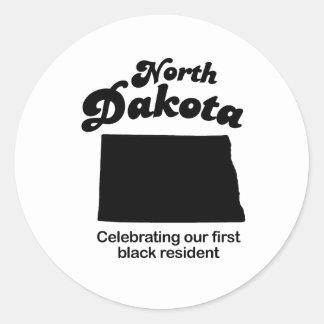 North Dakota - first black resident Classic Round Sticker
