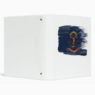 North Dakota Flag 3 Ring Binder