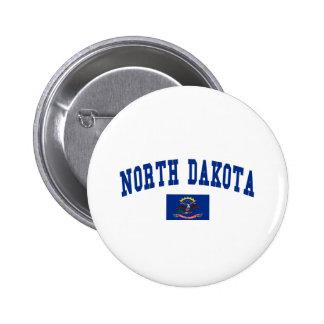 North Dakota Flag Pinback Button