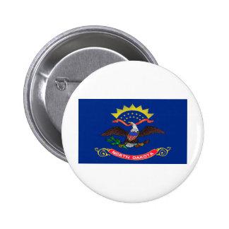 North Dakota Flag Buttons