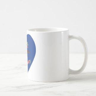 North Dakota Flag Heart Coffee Mug