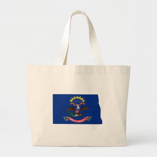 North Dakota Flag Map Bags