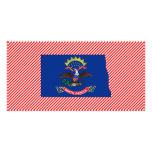 North Dakota Flag Map Customized Photo Card