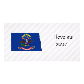 North Dakota Flag Map Photo Cards