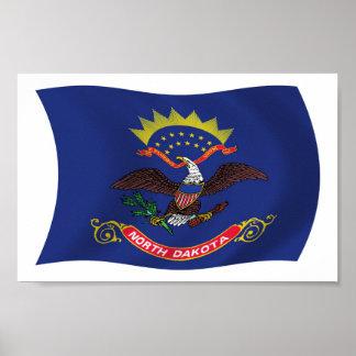 North Dakota Flag Poster Print