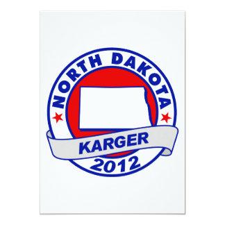 North Dakota Fred Karger 5x7 Paper Invitation Card
