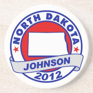 North Dakota Gary Johnson Drink Coaster