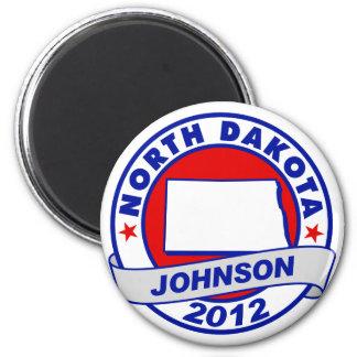 North Dakota Gary Johnson Refrigerator Magnets