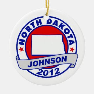 North Dakota Gary Johnson Christmas Ornaments