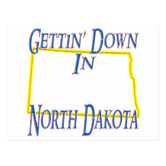 North Dakota - Gettin' Down Postcard