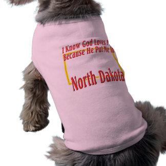 North Dakota - God Loves Me Shirt