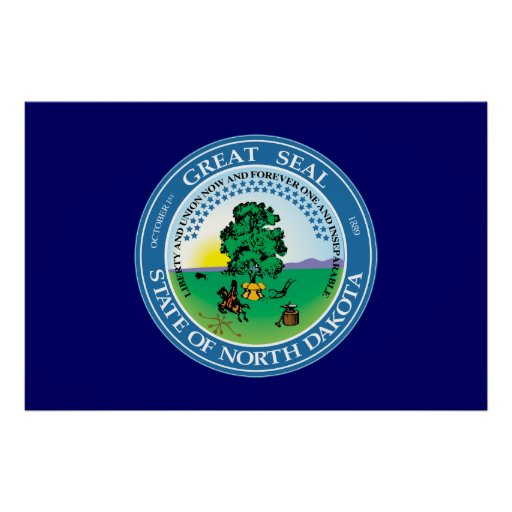 North Dakota Great Seal Poster