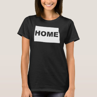 North Dakota Home Away From State T-Shirt Tees