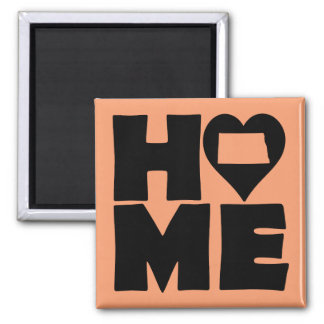 North Dakota Home Heart State Fridge Magnet
