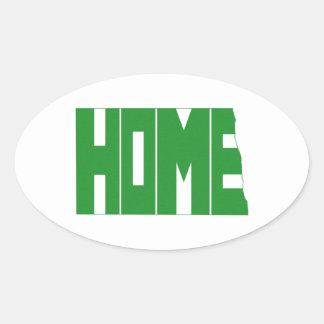 North Dakota Home State Oval Sticker