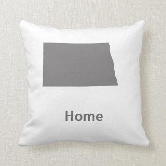 North Dakota Home Throw Pillow