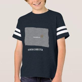 NORTH DAKOTA Home Town Personalized Map T-Shirt