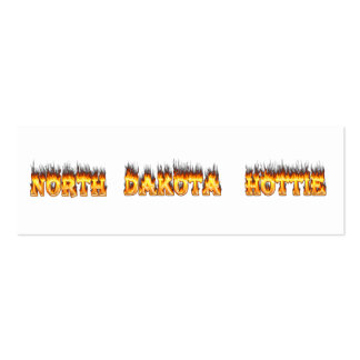 North Dakota hottie fire and flames Double-Sided Mini Business Cards (Pack Of 20)