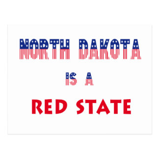 North Dakota is a Red State Postcard