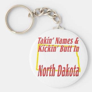 North Dakota - Kickin' Butt Keychain