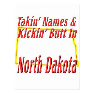North Dakota - Kickin' Butt Postcard