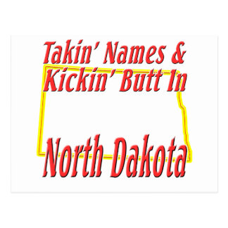 North Dakota - Kickin' Butt Postcard