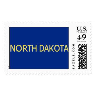 North Dakota Large Postage Stamp