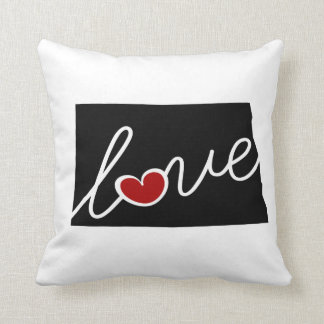 North Dakota Love!  Gifts for ND Lovers Pillow