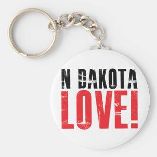 North Dakota Love Keychain