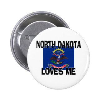 North Dakota Loves Me Pin