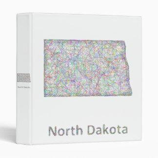 North Dakota map 3 Ring Binder