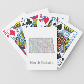 North Dakota map Bicycle Playing Cards