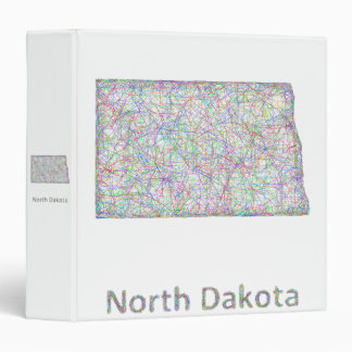 North Dakota map Binder