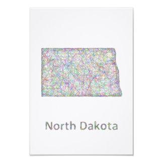 North Dakota map Card