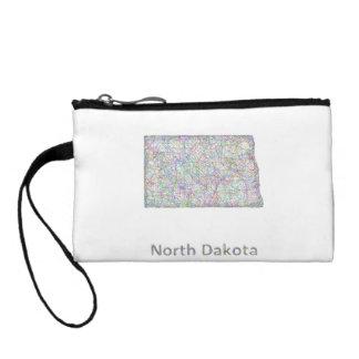 North Dakota map Change Purse