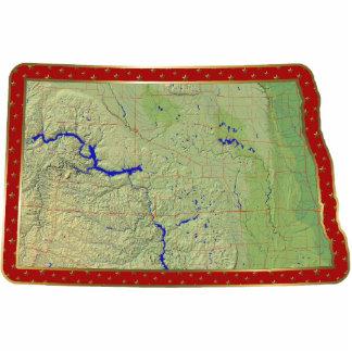 North Dakota Map Christmas Ornament Cut Out