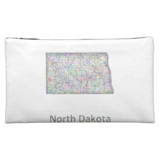 North Dakota map Cosmetic Bag