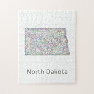 North Dakota map Jigsaw Puzzle