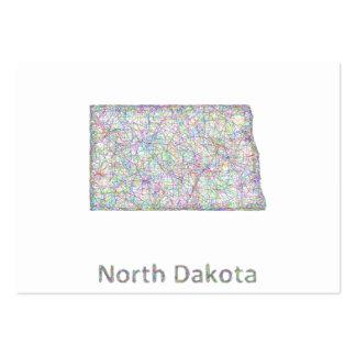 North Dakota map Large Business Card