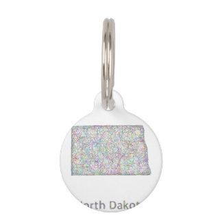 North Dakota map Pet Tag